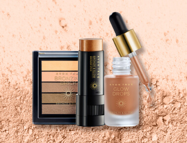 Avon True Bronze Glow Collection Bronze-Palette Bronzeschimmer stift Selbstbräuner in Tropfenform
